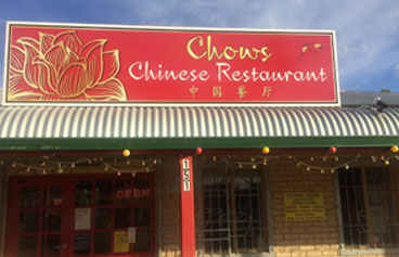 Chows Chinese Restaurant Silver Sands